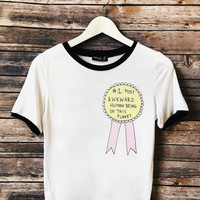 No.1 Awkward Person Ringer Tee