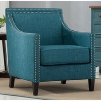 Greyson Living Tanner Teal Accent Chair | Overstock.com Shopping - The Best Deals on Living Room Chairs