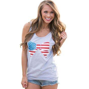 Bow 'merica - American Flag - Women's Tank Top