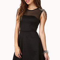 Luxe Fit & Flare Dress | FOREVER21 - 2040495526