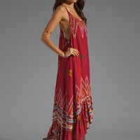 Indah Leyti High-Low Ruffle Sundress in Red Endek from REVOLVEclothing.com