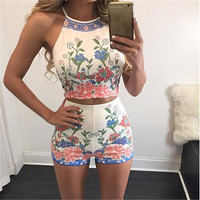 Brand New printing vest shorts Set