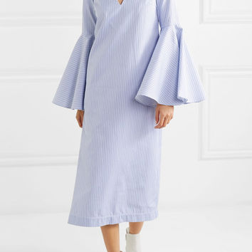 Ellery - Hildeberg striped cotton-jacquard midi dress
