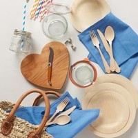 Picnic-For-Two Basket by Anthropologie Neutral One Size House & Home