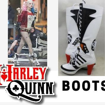 Harley Quinn Boots, Cosplay Boots, Suicide Squad Cosplay, Harley Quinn Shoes, Daddy's