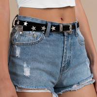 Vicky Star Studded Skinny Belt