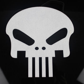 (20 pieces/lot) New cartoon White Skull felt mask Halloween cosplay masks for kids Party favors Dress up