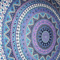 Large Indian Mandala Tapestry Hippie Hippy Wall Hanging Throw Bedspread Dorm tapestry