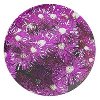 Purple Ice Cap Abstract Melamine Plate