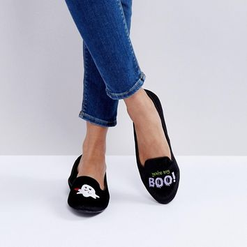 ASOS LAIRY Halloween Ghost Ballet Flats at asos.com