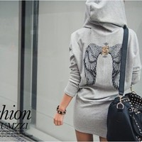 Buy TOPSY Wings Print Hoodie Dress | YesStyle