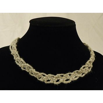 Handmade Macrame Necklace 16in
