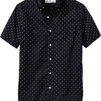 Men's Anchor-Print Slim-Fit Shirts