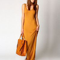 Sleeveless Camisole Maxi Dress