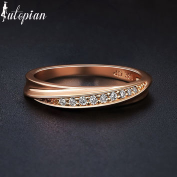 Italina R.A Austrian CZ Ring Anel For Women Wedding jewelry  Enagement Ring Made With Austrian Crystal Stellux #RA11410