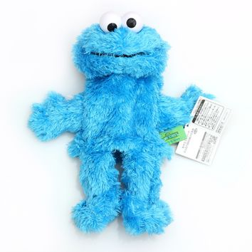 25 cm high quality Sesame street toy Elmo Big Bird Cookie Monster hand puppet doll