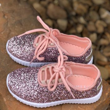 Children's Pink Sparkle Sneakers