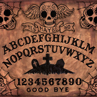 Ouija Board Day of the Dead stretched canvas