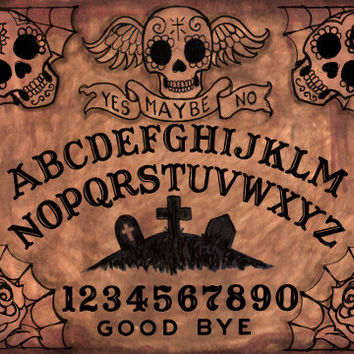 Ouija Board Day of the Dead of the Dead archival print