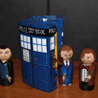 Doctor Who 9, 10, 11 and the Tardis Play Set