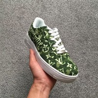 Supreme x LV x Nike Air Force 1 AF1 Green Sneaker Shoe Size 36-45