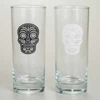 Muertos High Ball Glasses, Set of 2 - World Market