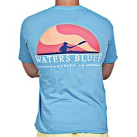 Paddler Tee Shirt in Sapphire by Waters Bluff