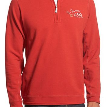 Men's Tommy Bahama 'Ben & Terry - San Francisco 49ers' NFL Quarter Zip Pullover,