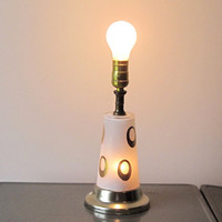 vintage atomic glass lamp multiple lights