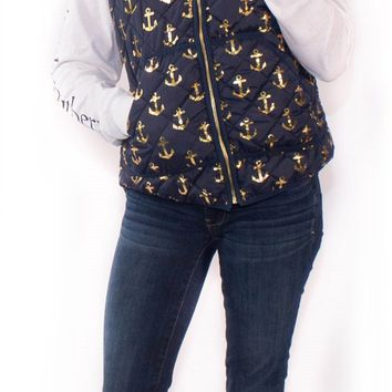 Simply Southern Quilted Anchor Vest