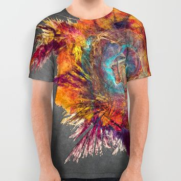 Flower Power Fractal Art All Over Print Shirt by Jbjart | Society6