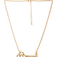 FOREVER 21 Key Pendant Necklace Gold One