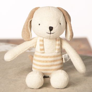 Momo The Puppy Organic Cotton Lovey Toy - Small