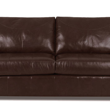 Savvy Boulder Leather Sleeper Sofa in Durango Expresso (Full)