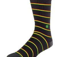 Zion Rasta Stripe Black Stance Socks