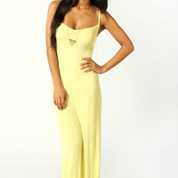 Lucy Strappy Cross Over Back Maxi Dress