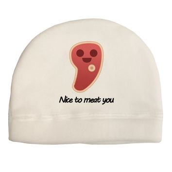 Steak - Nice to Meat You Adult Fleece Beanie Cap Hat