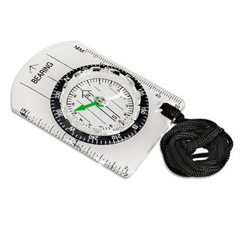 All in One Outdoor Hiking Camping Baseplate Compass MM INCH Map Ruler [8081671367]