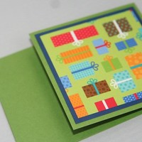 Primary Colors Gift Presents Happy Birthday Gift Card Holder