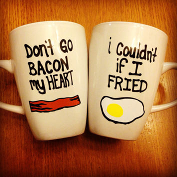 Bacon and Eggs Mugs Set