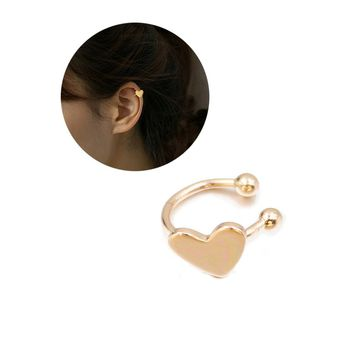 Heart Design Ear Cuff 1pc