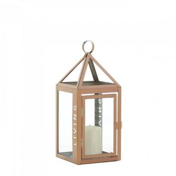 Rose Metal Frame Living Lantern