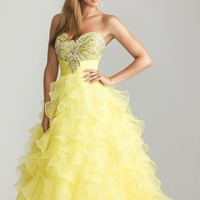Night Moves 6606 Yellow Ball Gown