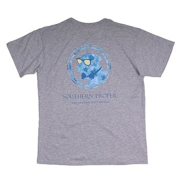 Island Dog Tee in Heather Grey by Southern Proper