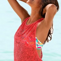 Hot Bralette Comfortable Stylish Beach Summer Sexy Lace Hollow Out Round-neck Sleeveless Tops Vest [7767264839]