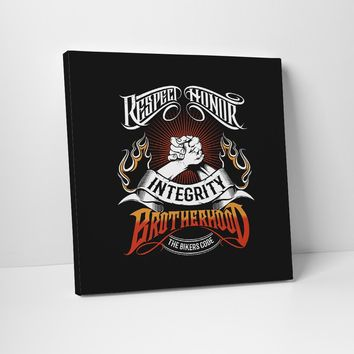 The Bikers Code Canvas Art