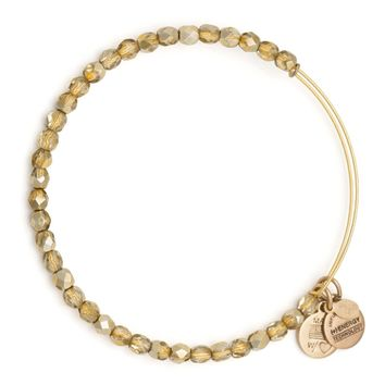 Gold Glisten Beaded Bangle | Alex and Ani