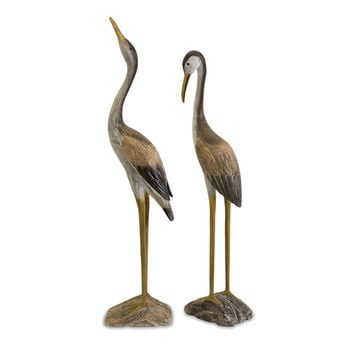 Two Wood Cranes