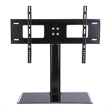 Universal TV Tabletop Base Stand with Adjustable Swivel Mount Bracket for TVs