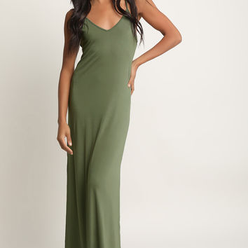Lace-Up Back Maxi Dress | UrbanOG
